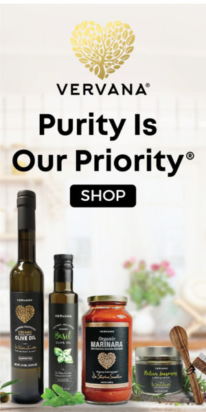 Vervana extra virgin cold-pressed olive oils, healthy pasta sauce and dipping spices Purity Is Our Priority